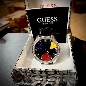 "Guess Vintage watch, G95252G Geometric Dial 2"" Dia"